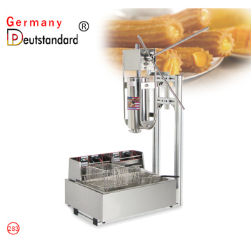 máquina de churros de acero inoxidable manual comercial