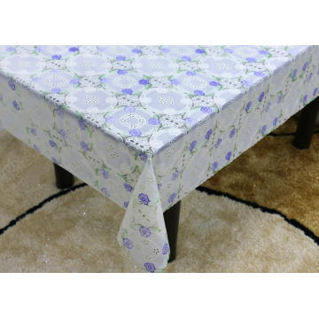 Printed pvc Vinyl lace tablecloth by roll