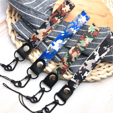 Camouflage Army Green phone Lanyard short rope for keys ID Card Gym Mobile Phone Straps USB badge holder DIY Hang Rope Keychain
