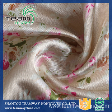 100% Polyester Satin Fabric Printed Flowers Satin Fabric