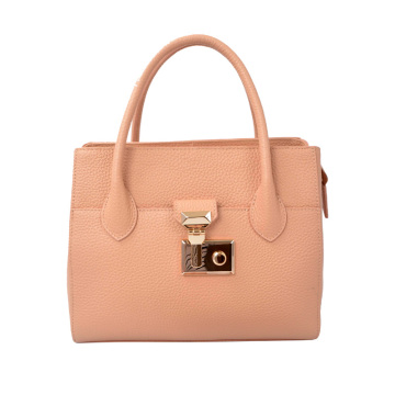 Medium Satchel Tote Two Tone Body and Handle