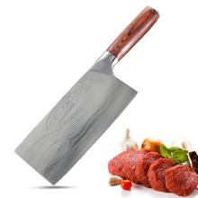 Carbon Steel Pakka Wood Chinese Cleaver Chopping Knife