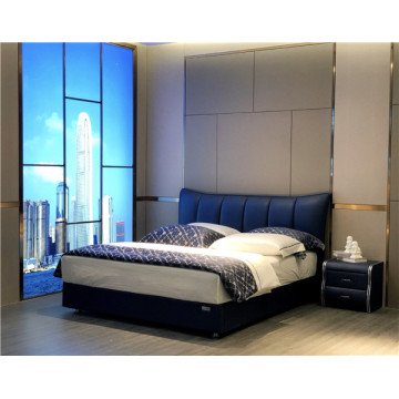 Contemporary Upholstered Bed For Sale