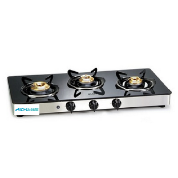 Gas Cooktop Brass Burners Auto Ignition
