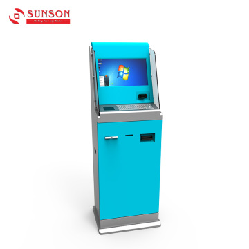 Double Sides Card Scanner Payment Kiosk With Bill Validator