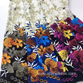 Flower Broder Twill Rayon Screen Print Fabric