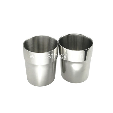 Metal Double Wall Coffee Cup With Customized Logo
