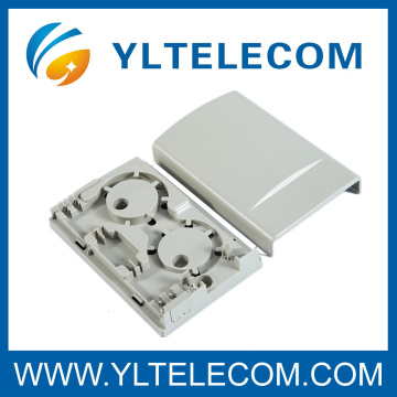 Wall Mounted Indoor Plastic 2 Core FTTH Box