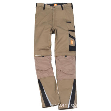Billiga Khaki Simple Classic Pants