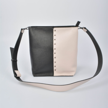 PALIO Leather Bucket Bag with middle cutting