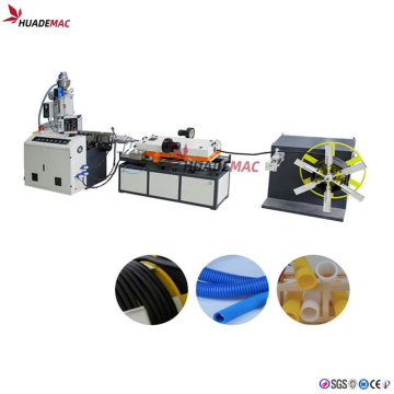 High speed single wall corrugated pipe extrusion line