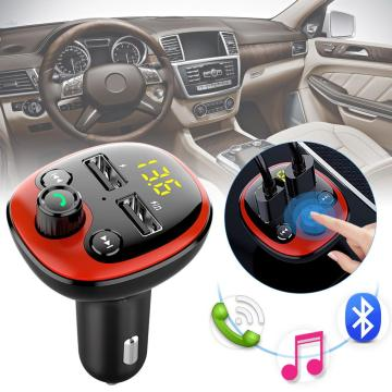 New Hot Bluetooth FM Transmitter for Car with Dual 3.1A USB Charging Ports Hands-Free Car Charger Radio Receiver Mp3 Player CSV