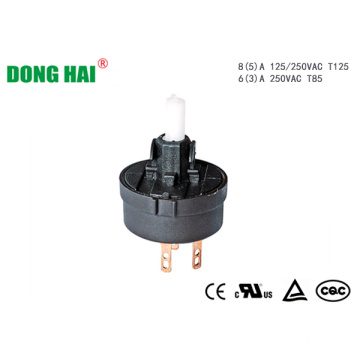 Round Rotary Switch Compact Size Black