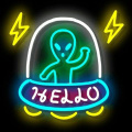 ALIEN NEON SIGN LIGHT