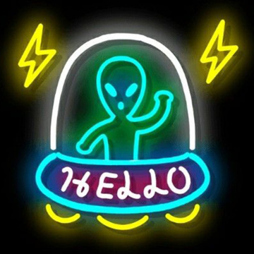 ALIEN NEON SIGN SOLAS