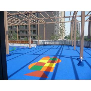 Campus system POP particles Courts Sports Surface Flooring Athletic Synthetic Running Field Track Track