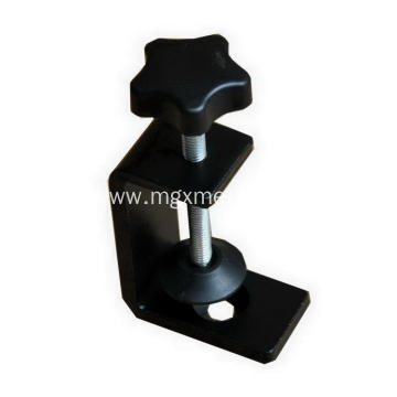 High Quality Furniture Powder Coated Black Metal Desk Mount Clamps