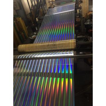 Laminated tinplate with laser effect