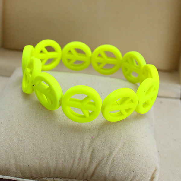 Peace Resin Bracelet Bangles Jewelry