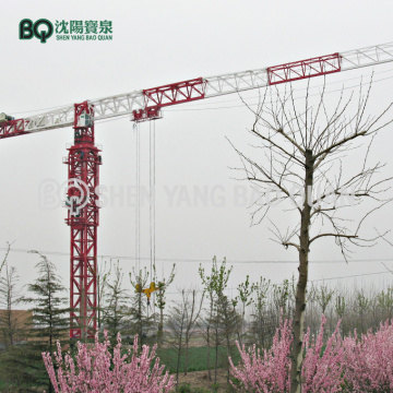 80t Flat Top Tower Crane