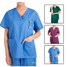 Women's Stretch V Neck Nurse Medical Scrubs Uniform