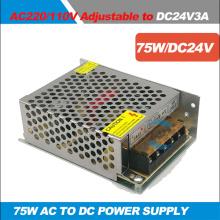 75W 24V 3A Lighting Transformers 100~220V AC to DC 24V AC to DC Switch Power Supply Adapter Converter for LED Strip light Driver