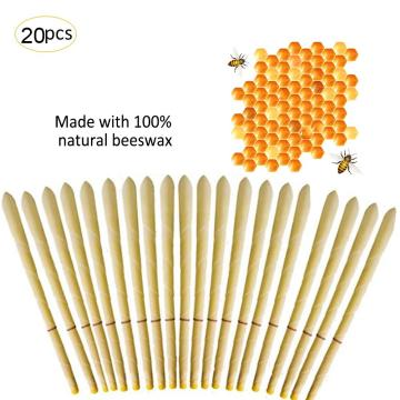 20PCS Cylinder Ear Cone Candles With Natural Bee Wax Paraffin For Ear Therapy Clean Coning Ear Treatment Beeswax Candle