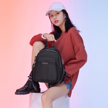 Small Black Big Student Backpack for High School