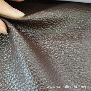 0.8mm Special Glossy Lychee Grain PVC Leather