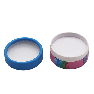 Round face powder compact case