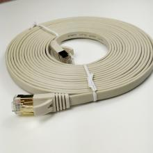 Cat7 Cat6A Flat Ethernet Patch Cord Cable