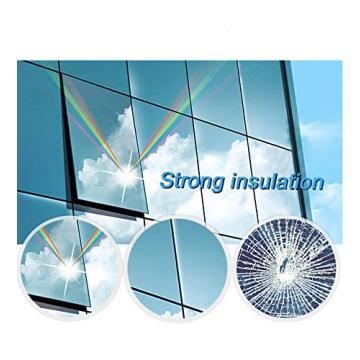 One Way Mirror Window Privacy Film Heat Control Anti UV Tint Solar Film Reflective Self-Adhesive for Daytime Sun Blocking Silver
