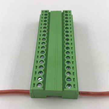 18 contacts of wiring poles plug-in terminal block
