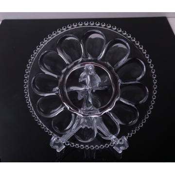 Crystal Clear Glass Plate for egg serving