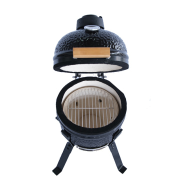 Egg Shape BBQ Grills  Black Kamado Smoker