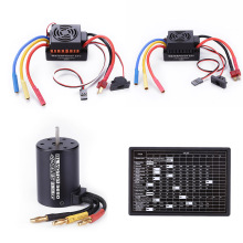 60A Waterproof ESC + Brushless Motor + Programming Card Combo Set Generator Parts for RC Car Accessories Gasoline Engine