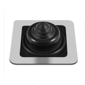 BLACK SILICONE Rubber Square-Base Flashing Boot