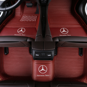 Leather Car Foot Mats Floor Mats for Benz All Models