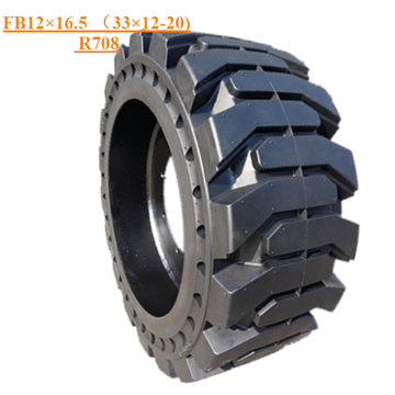 Solid Skid Steer Tire FB12×16.5 (33×12-20) R708