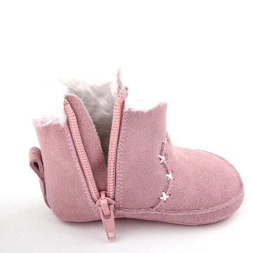 Snow Plush Genuine Leather Baby Boot