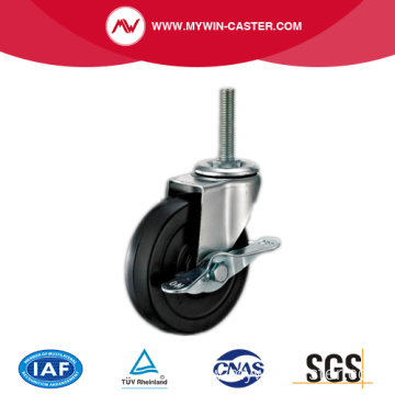 Threaded Stem Light Duty Rubber Caster
