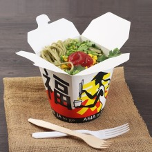 Printed Noodle Box with customized logo