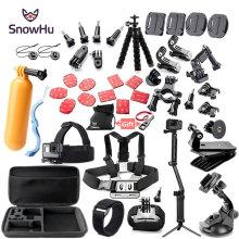 SnowHu Action Camera Accessory for GoPro Hero 9 8 7 6 5 4 Black Yi 4K 4K+ Lite SJCAM SJ7 Eken H9 for Go Pro Mount GS52