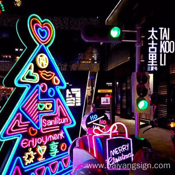 Holiday celebration decoration quality promotional outdoor led flexible led sign