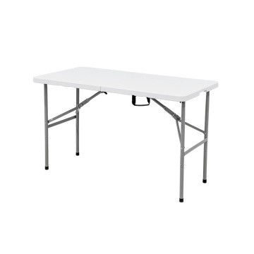 4FT Fold-In Half Plastic Metal Folding Table