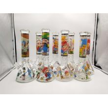 35cm Cartoon Decal water pipe glass bongs