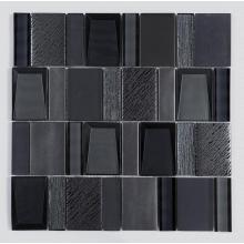 Hotel Bathroom Black Art Glass Mosaic Mixed Tiles