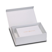 White Luxury Brand Cardboard Cosmetics Foldable Box