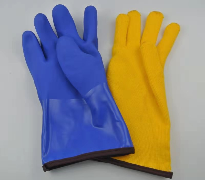 Winter Lined Heavy Duty PVC Coated Chemical Gloves