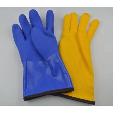 Chemical resistant cold weather pvc work gloves